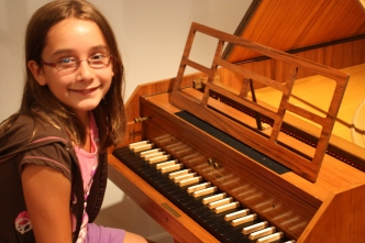 Maddy at the Harpsichord