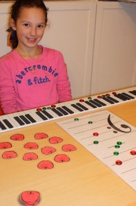 Molly and I played an Apple Keyboard Game this week.