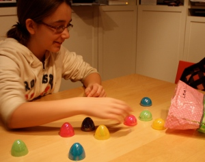 Maddy speeds through Easter Egg Vocabulary Match-up