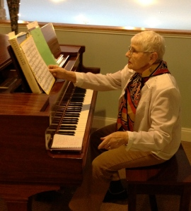 Evelyn performs at Hospice of Chesapeake