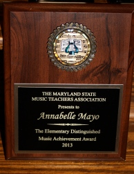 MSMTA Elementary Distinguished Music Achievement Award