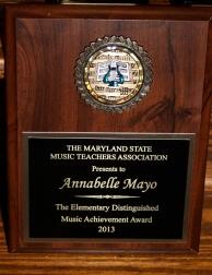 MSMTA Elementary Distinguished Music Achievement Award