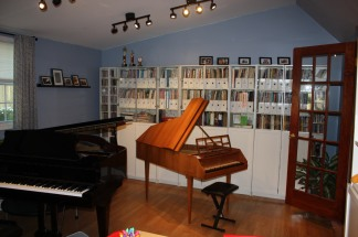 The harpsichord offers students a unique opportunity to perform Renaissance and Baroque music on an authentic instrument.