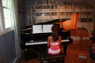 Olivia played her summer piece for everyone.