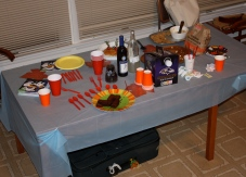 Everyone contributed to the table for a selection of great food!