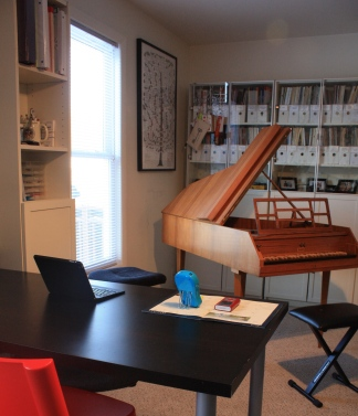 A real harpsichord is used with advancing students who are ready to begin early music study along with their regular piano lessons. Each year, the harpsichord is taken to Reynold's Tavern for a very special performance by my students.