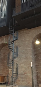 This is the spiral staircase used by the organist to reach the organ in the audience room of Constantine in Trier.