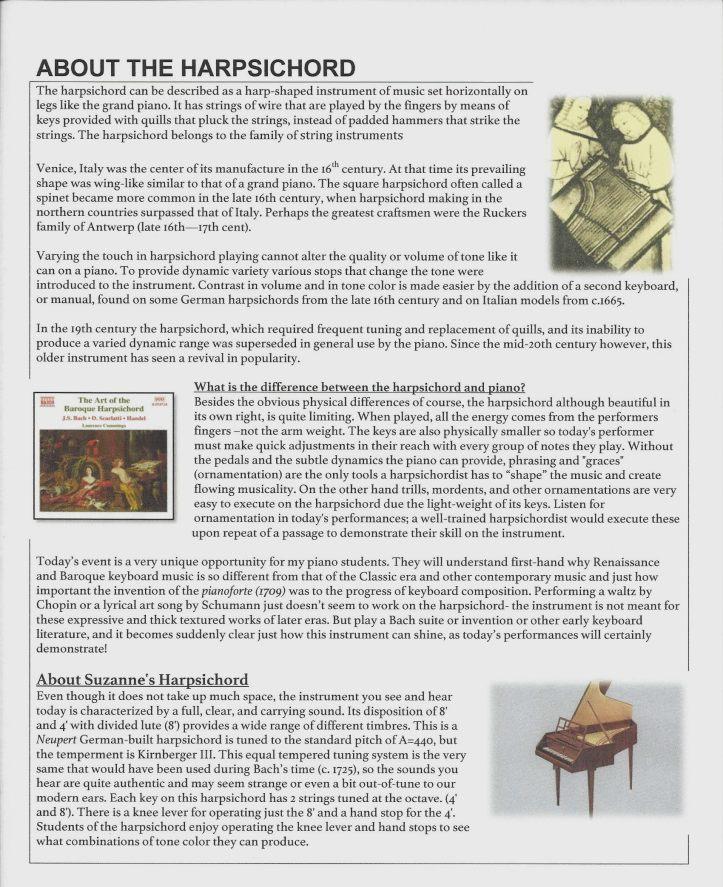 Baroque Teahouse program