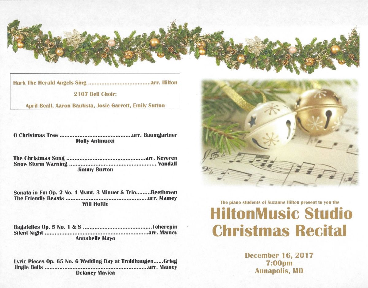 Christmas Recital- Dec 16, 2017